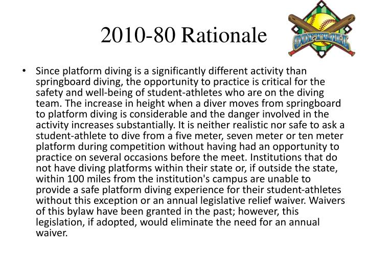 2010-80 Rationale