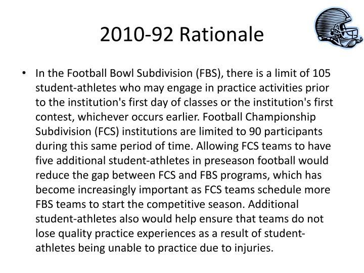 2010-92 Rationale