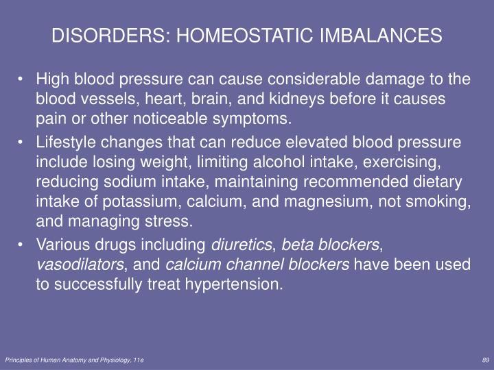 DISORDERS: HOMEOSTATIC IMBALANCES