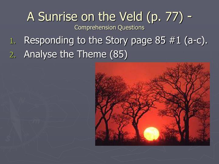 A Sunrise on the Veld (p. 77)