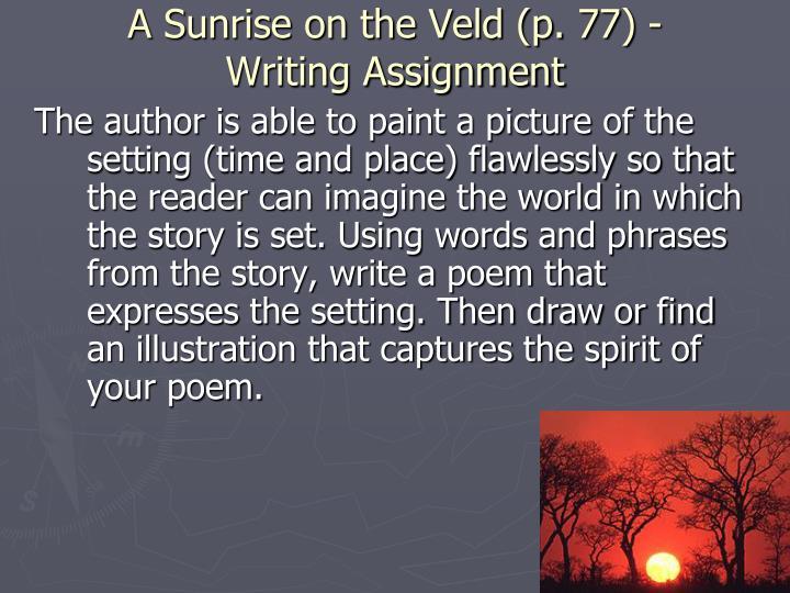 A Sunrise on the Veld (p. 77) -
