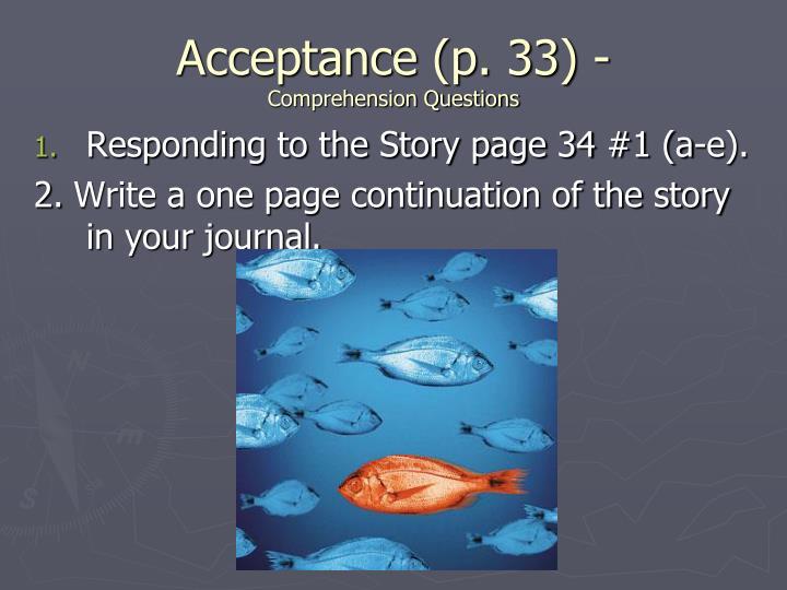 Acceptance (p. 33) -