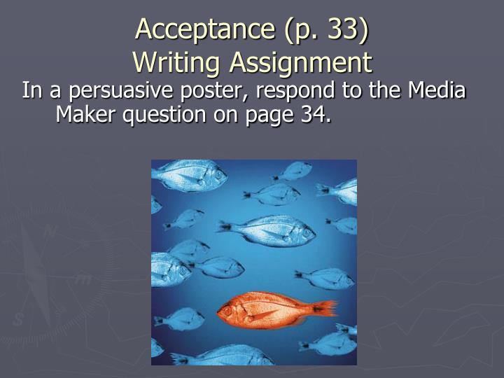 Acceptance (p. 33)