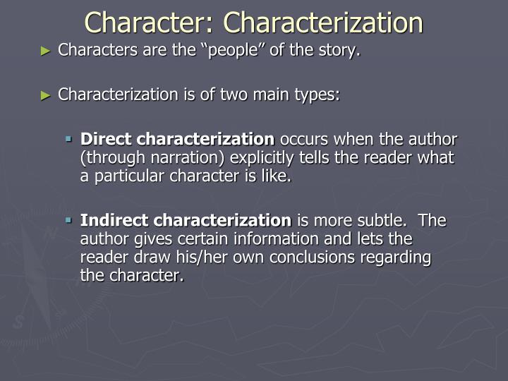 Character: Characterization