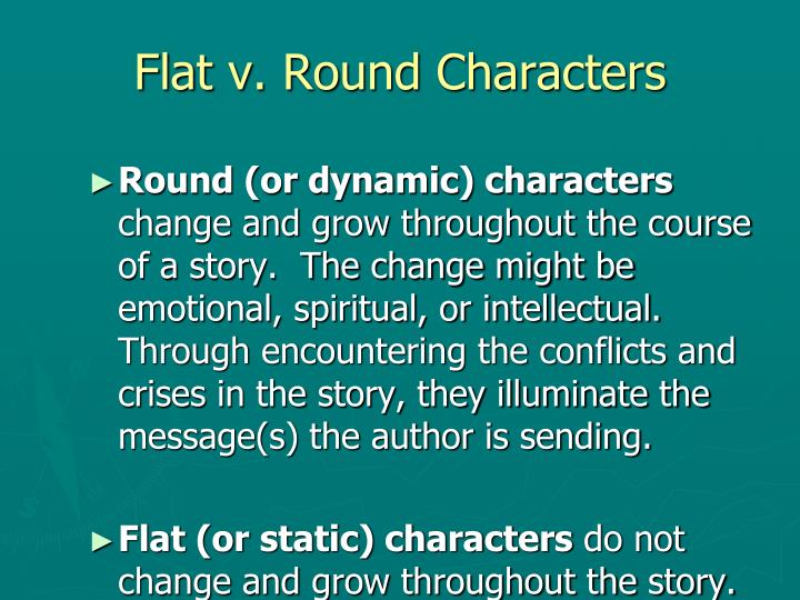 Flat v. Round Characters
