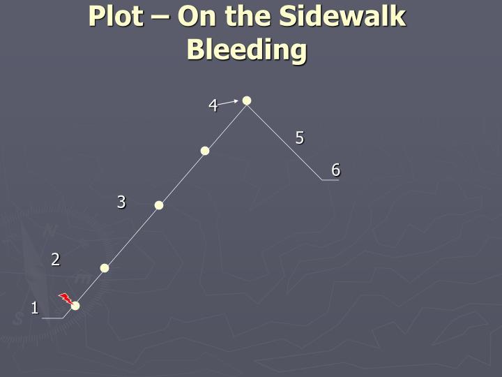 Plot – On the Sidewalk Bleeding