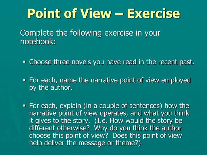 Point of View – Exercise