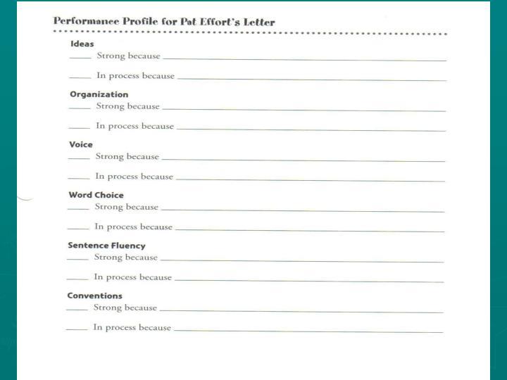 [insert Performance Profile from textbook p. xxvi]