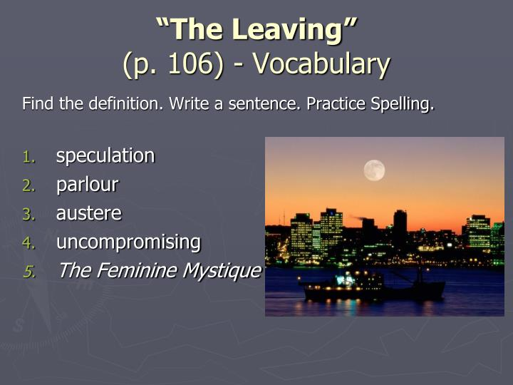 """""""The Leaving"""""""