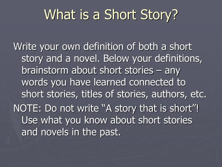 What is a short story