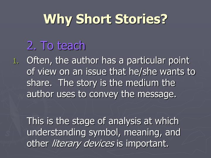 Why Short Stories?