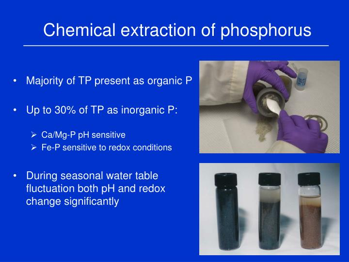 Chemical extraction of phosphorus