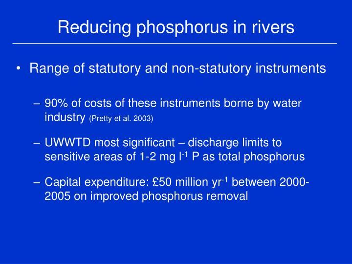 Reducing phosphorus in rivers