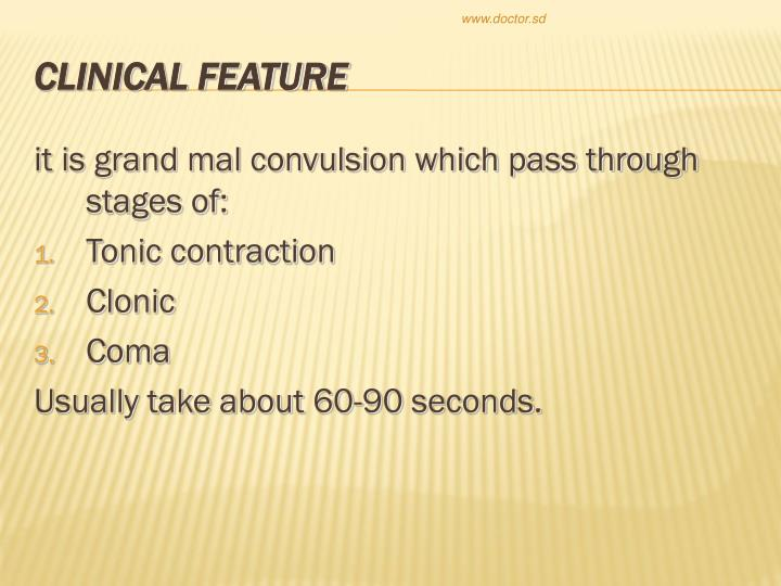 it is grand mal convulsion which pass through stages of: