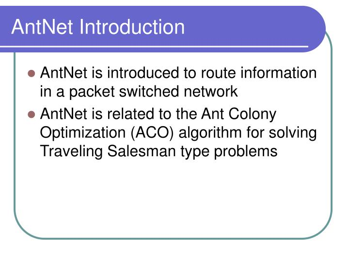 AntNet Introduction