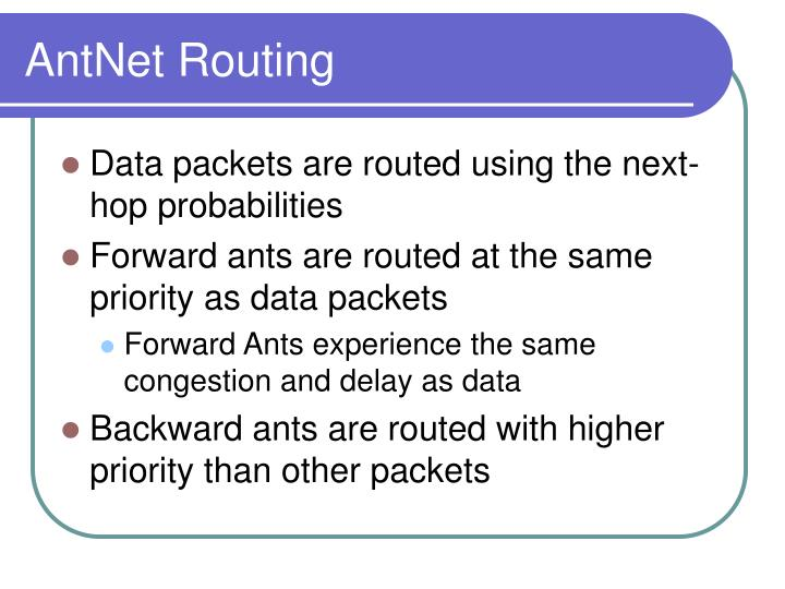 AntNet Routing