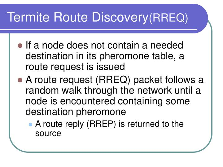 Termite Route Discovery