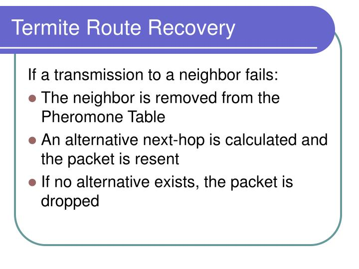 Termite Route Recovery