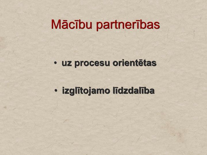 Mācību partnerības