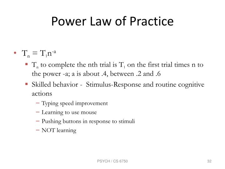 Power Law of Practice