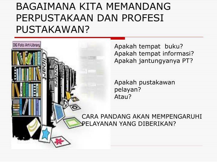 Bagaimana kita memandang perpustakaan dan profesi pustakawan