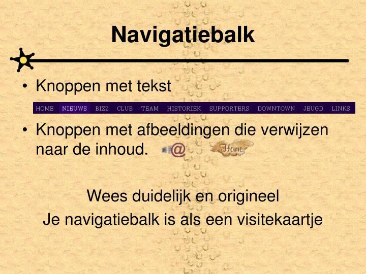 Navigatiebalk
