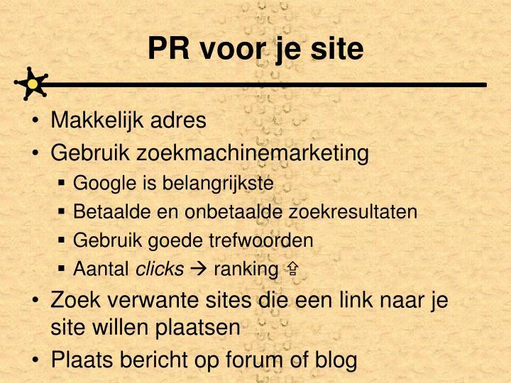 PR voor je site