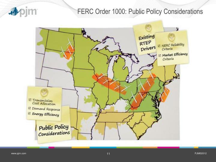 FERC Order 1000: Public Policy Considerations