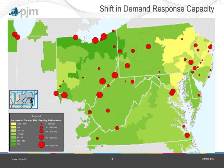 Shift in Demand Response Capacity