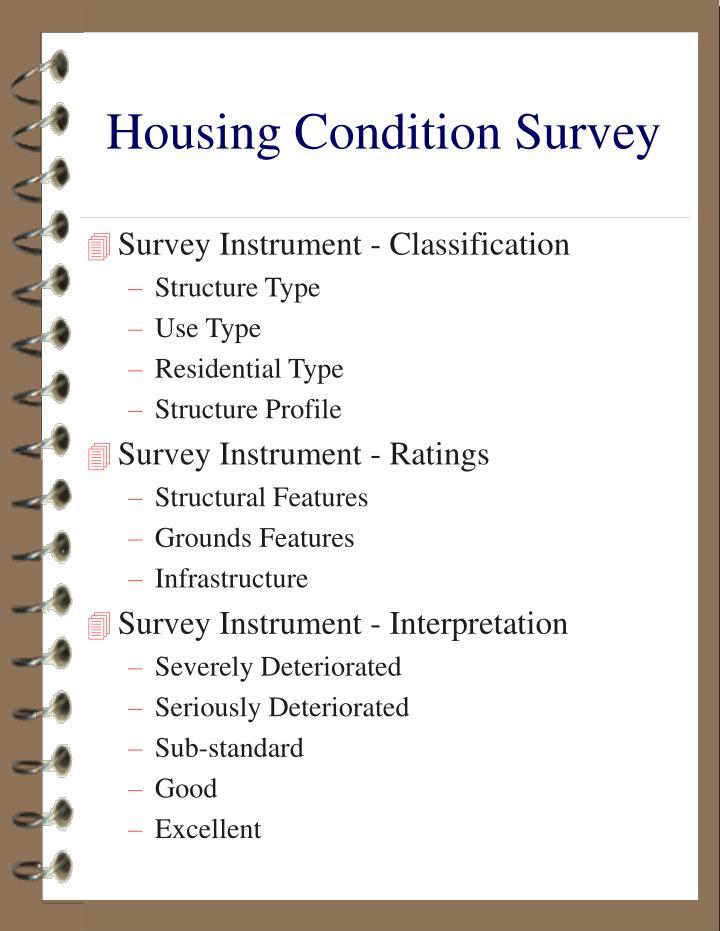 Housing condition survey1