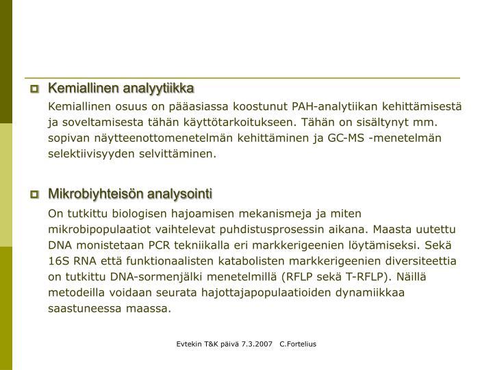 Kemiallinen analyytiikka