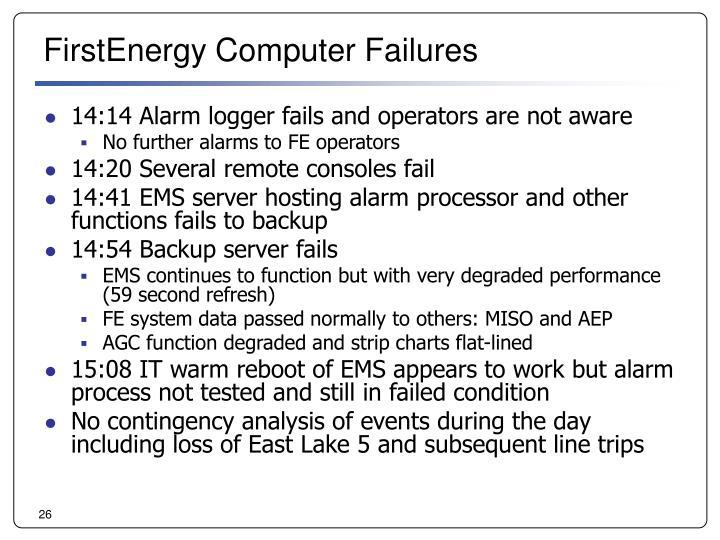 FirstEnergy Computer Failures