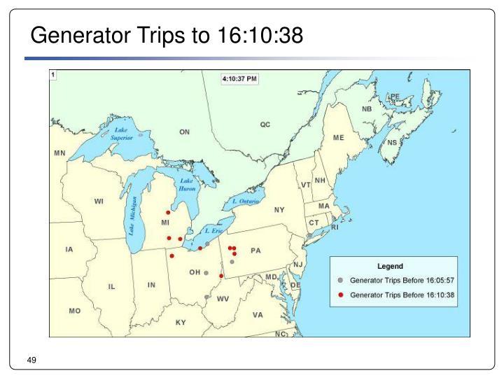 Generator Trips to 16:10:38