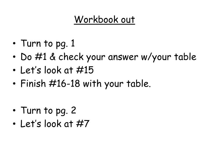 Workbook out