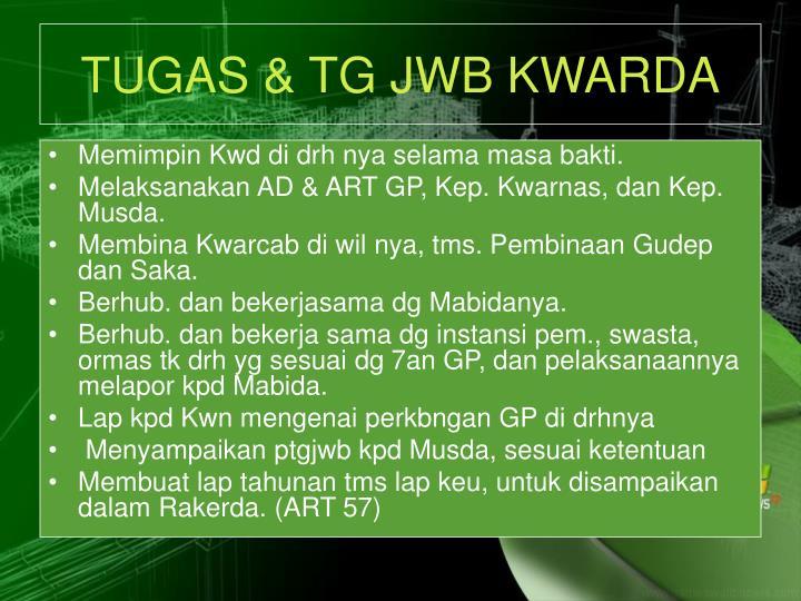 TUGAS & TG JWB KWARDA