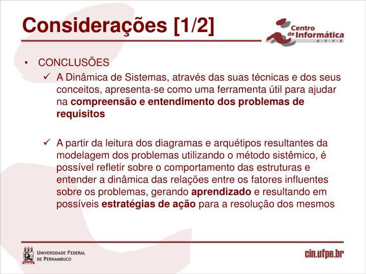 Considerações [1/2]