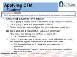 applying ctm feedback1