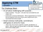 applying ctm growth1