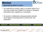 mindset operating within limits