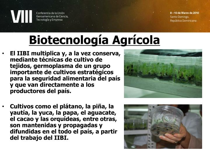 Biotecnología Agrícola