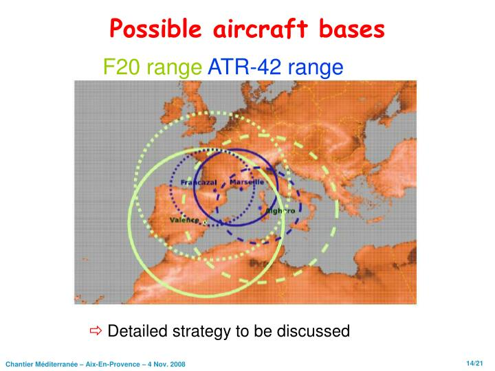 Possible aircraft bases