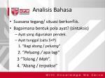 analisis bahasa