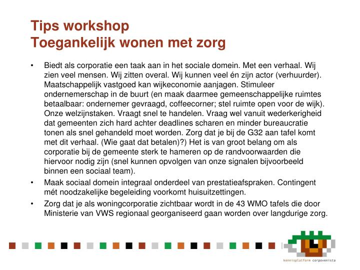 Tips workshop
