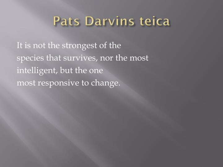 Pats Darvins teica