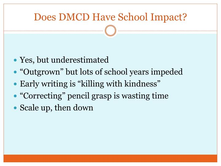 Does DMCD Have School Impact?
