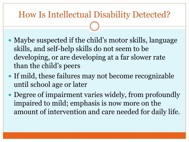 How Is Intellectual Disability Detected?