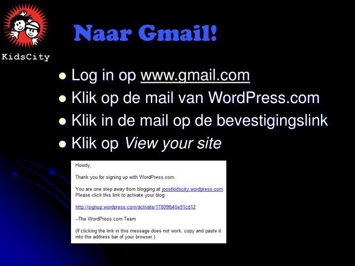 Naar Gmail!