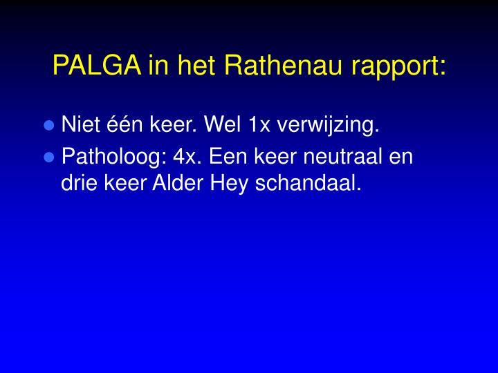 PALGA in het Rathenau rapport: