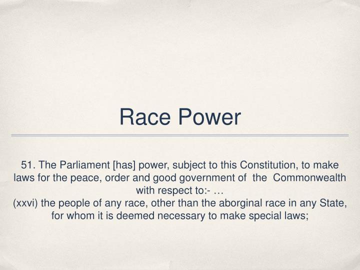 Race power