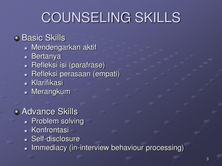 Counseling skills